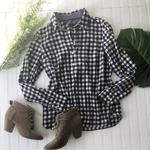 Tommy Hilfiger checkered shirt Navy blue cream